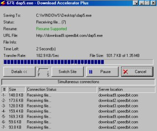 Screenshot Download-Accelerator