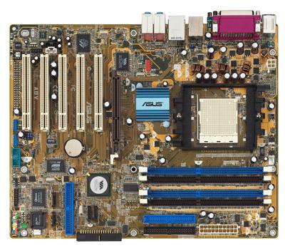 Als besonderer Ausstattungsmerkmale bietet das Asus A8V Deluxe WiFi zwei SATA-Raid-Controller und eine Wireless-Netzwerkkarte.