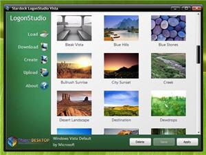 Das kostenlose Stardock Logonstudio ermöglicht den Wechsel des Login-Hintergrunds (Bild: Stardock).