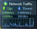 Das Sidebar-Gadget zeigt den ein- und ausgehenden Datenverkehr an (Bild: ZDNet).