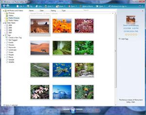 Kommt auch für Windows XP: Windows Live Photo Gallery
