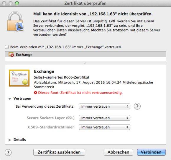Mac OS X Lion und Exchange: So löst man die Mail-Probleme