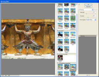 Screenshot Filtergalerie