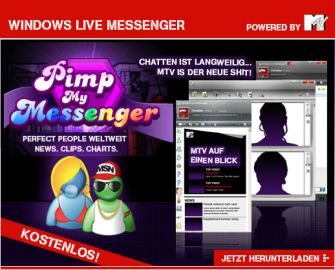 Screenshot des MTV-Messenger