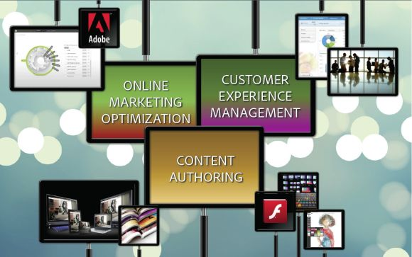 Adobe sieht sich künftig als Lösungsanbieter in den drei miteinander verwobenen und sich überschneidenden Bereichen Content-Erstellung, Online-Marketing-Optimierung und Customer Experience Management(Grafik: Adobe).
