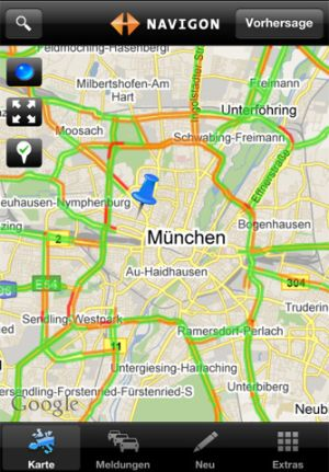 Navigon Traffic4all gibt es für iOS und Windows Phone (Screenshot: inrix/iTunes).
