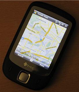 Google Maps auf dem HTC Touch (Bild: ZDNet)