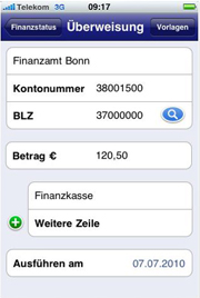 Screenshot iPostbank-App