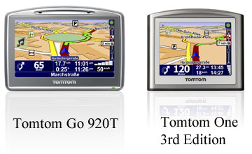 Tomtom GO 920 T und Tomtom One 3rd Edition