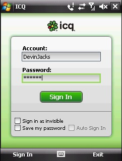 ICQ für Windows Mobile