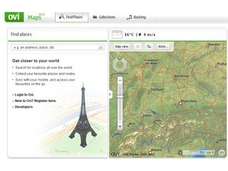Ovi Maps (Screenshot: ZDNet)