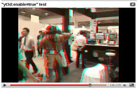 Youtube experimentiert mit 3D-Videos (Screenshot: News.com).