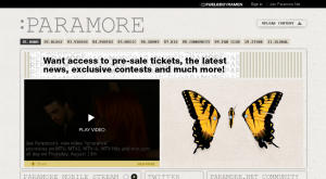 Die Website der Band Paramore läuft mit Cisco Eos (Screenshot: News.com).