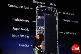 Lage der Antenne im iPhone 4G (Bild: News.com)