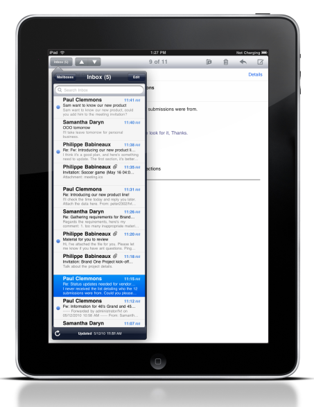 Lotus Notes Traveler Companion auf dem iPad (Bild: IBM)