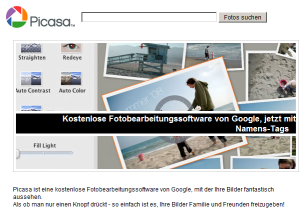 Google Picasa (Screenshot: ZDNet)