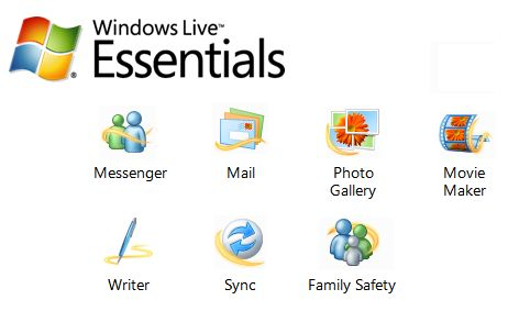 Die Beta von Windows Live Essentials enthält neue Versionen von Messenger, Mail, Fotogalerie, Movie Maker, Writer und Sync (Bild: Microsoft).