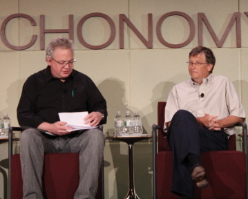 Bill Gates bei Techonomy (Bild: News.com).