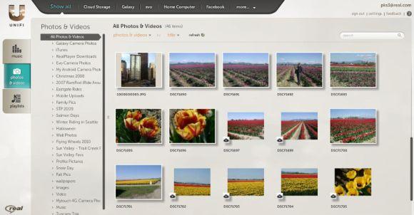 RealNetworks hat den Start des Medien-Cloud-Diensts Unifi für das erste Halbjahr 2011 angekündigt (Bild: RealNetworks).