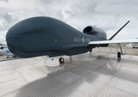 Global-Hawk-Drohne von Northrop Grumman (Bild: Stephen Shankland, News.com).