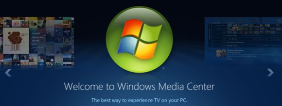 Windows 8 Media Center (Screenshot: ZDNet).