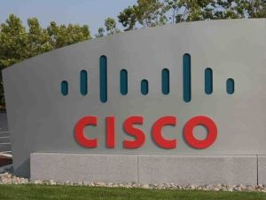 Logo von Cisco vor dem Hauptquartier in San Francisco (Bild: Cisco Systems)