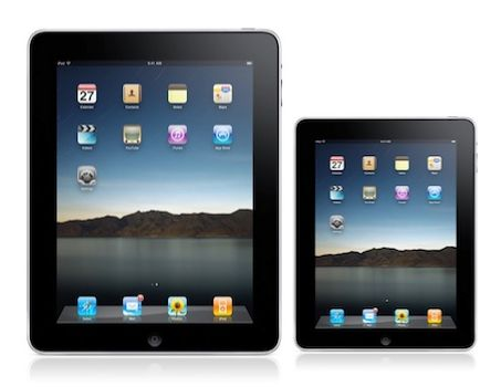 Apple iPad in klein (Montage: ZDNet).