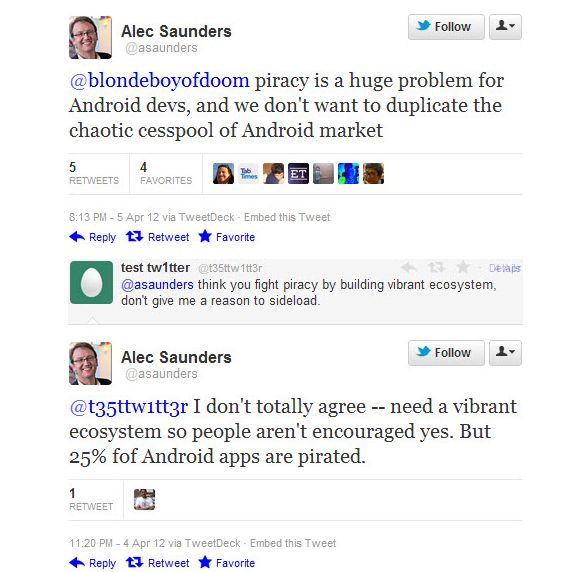 Alec Saunders' harte Worte über Google Play (Screenshot: ZDNet)