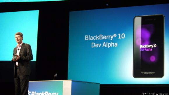 RIM-CEO Thorsten Heins auf der Blackberry World (Bild: News.com)