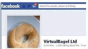 VirtualBagel auf Facebook (Screenshot: BBC)