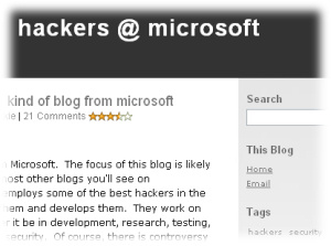 Hackers @ Microsoft Blog