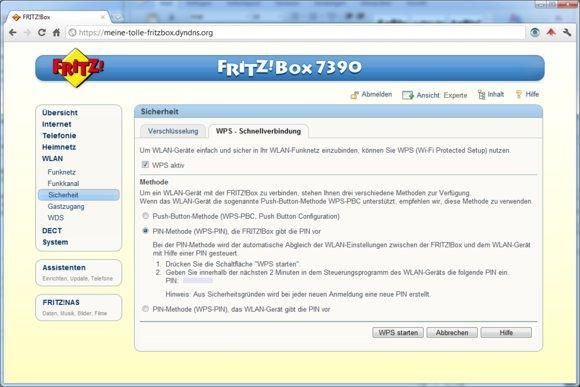Eine Fritzbox 7390 von AVM ist relativ sicher vor WPS-Attacken. Eine Brute-Force-Attacke ist nach spätestens zwei Minuten beendet.