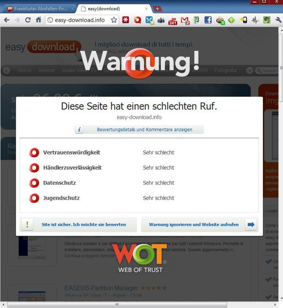 Das Browser-Plug-in <a href=&quot;/software_programme_loesungen_fuer_unternehmen_mehr_schutz_im_netz_security_add_ons_fuer_browser_story-20000001-41529979-1.htm&quot; target=&quot;_blank&quot;>World of Trust</a> warnt vor Abzocker-Sites (Screenshot: ZDNet).&#8220; title=&#8220;Das Browser-Plug-in <a href=&quot;/software_programme_loesungen_fuer_unternehmen_mehr_schutz_im_netz_security_add_ons_fuer_browser_story-20000001-41529979-1.htm&quot; target=&quot;_blank&quot;>World of Trust</a> warnt vor Abzocker-Sites (Screenshot: ZDNet).&#8220; ></a><br />Das Browser-Plug-in <a href=