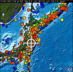 Japan am 11. März 2011 (Bild: US Geological Survey)