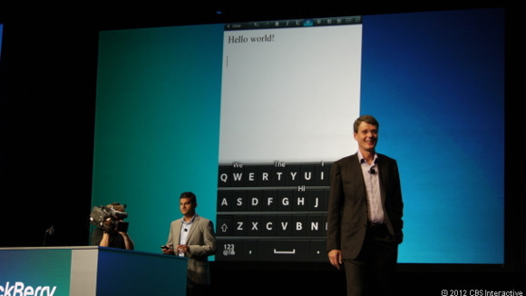 RIM-CEO Thorsten Heins während der Blackberry World im Mai (Bild: Brian Bennett / News.com)
