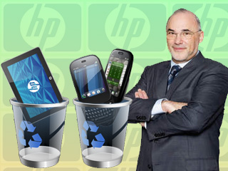 HP-CEO Léo Apotheker beerdigt WebOS (Collage: ZDNet).