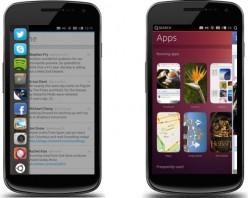 Ubuntu-Smartphones versprechen eine stark vereinfachte Bedienung mit Touchgesten (Bilder: Canonical).