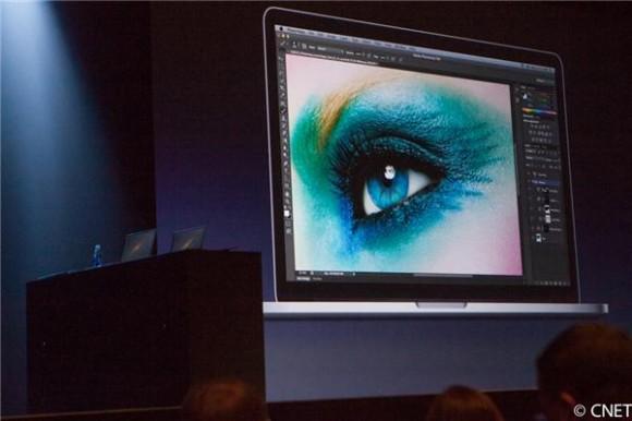 Apple-Vortrag auf der WWDC mit strittigem Bild (Foto: James Martin, News.com)