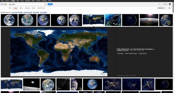 Künftig zeigt Googles Bildersuche ein Ergebnis größer und zusammen mit Metadaten an (Bild: Google).