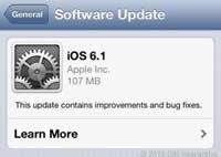 Update auf iOS 6.1