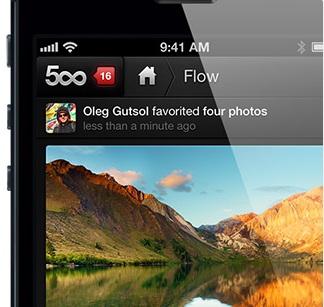 iPhone-App für 500px