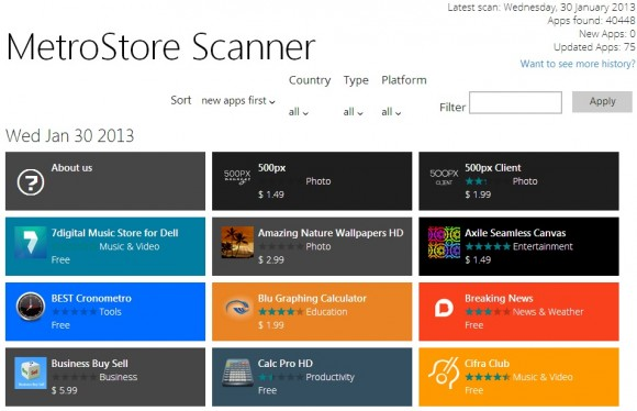 Über 40.000 Apps im Windows Store (Screenshot: ZDNet)