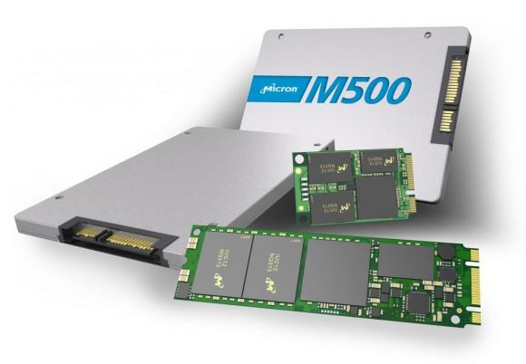 Micron liefert die Crucial M500 als 2,5-Zoll-Laufwerke und als Steckkarten in den Formaten mSATA und M.2 aus (Bild: Micron).