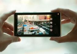 Nokia-Smartphone im Kameramodus