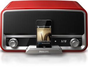 Demnächst von Funai erhältlich: iPhone-Boxen von Philips im Retro-Radio-Stil (Bild: Philips)