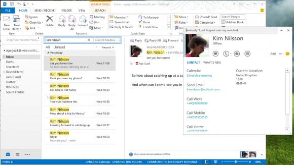 Skype 6.1 für Windows integriert sich in Microsoft Outlook (Bild: Microsoft).