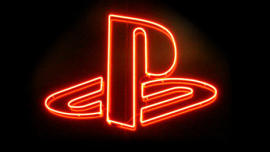 Sony Playstation - Neon-Logo