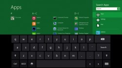 Windows 8 mit Onscreen-Tastatur