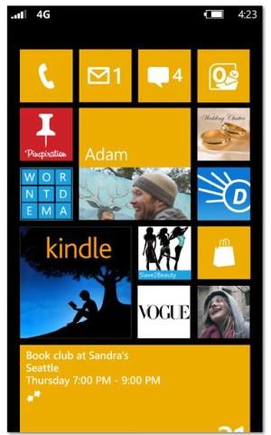 Nutzer mit Windows Phone 7.x erhalten mit dem Update auf Version 7.8 auch den Startbildschirm von Windows Phone 8 (Bild: Microsoft)