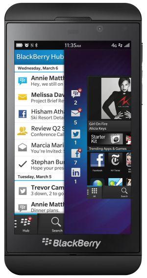 Das Blackberry Z10 wird nach jetzigem Stand nicht in Japan auf den Markt kommen (Bild: Blackberry).